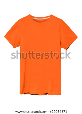 Summer orange men`s t-shirt isolated  with copy space