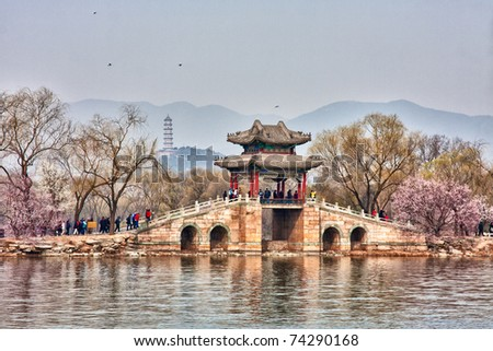 summer palace in spring, beijing, china