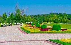 Summer park landscape, Moscow, Russia, East Europe