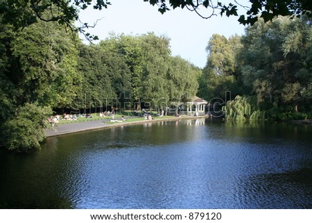 Summer Park Pond