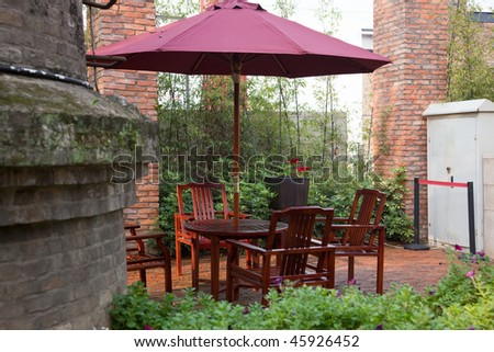 Picnic Table Umbrellas features patio, outdoor and picnic table