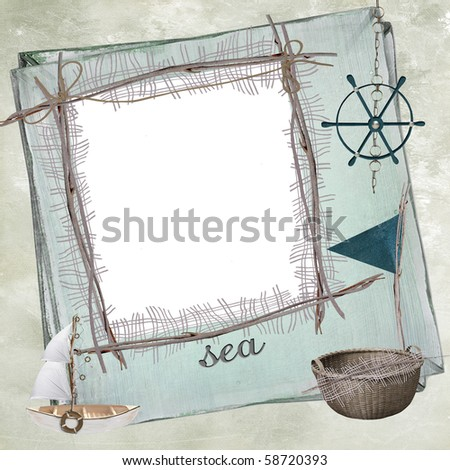 Summer Photo Frame - stock photo