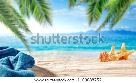 Summer photo of beach and free space for your decoration.