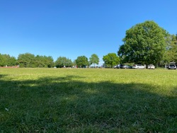 Summer picnic spot in the middle of a beautiful and warm British summers day.