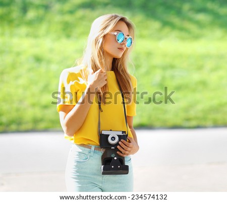 summer portrait stylish pretty...