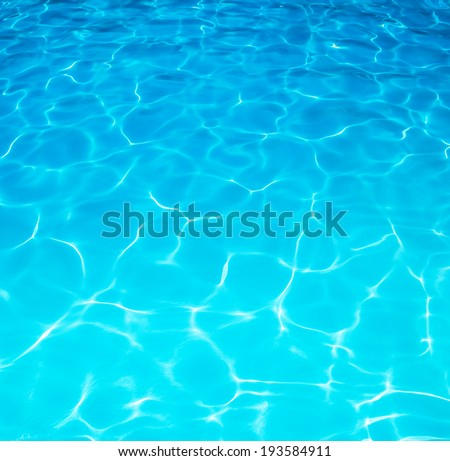 Summer resort water ripple or water surface under a beautiful sunny day