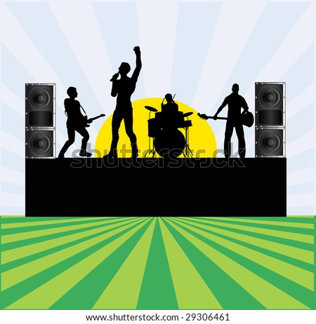 Summer Rock Festival Bitmap Background