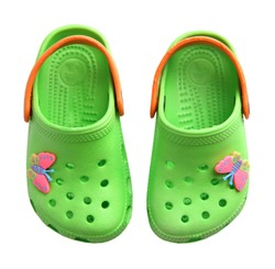 Summer rubber crocs shoes pair isolated.