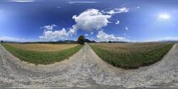 Summer rural landscapes HDRI spherical Panorama