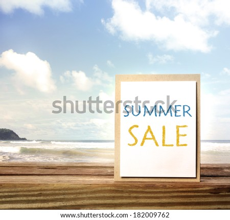 Summer Sale Sign Summer Sale Sign Over Blue