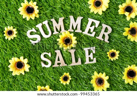 Summer Sale Sign Summer Sale Sign Over Green