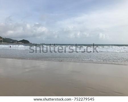 summer sea sandy beach #752279545