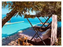 Summer See vacation relax view olive tree Swimmingpool