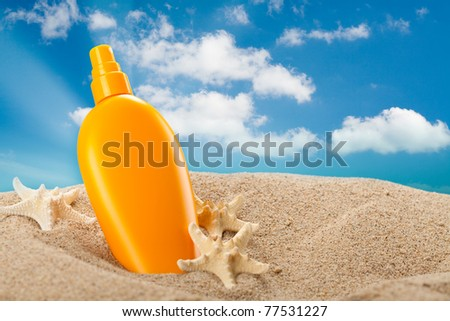 Summer sunbath - suntan oil