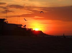 Summer sunrise on a beach in Odessa