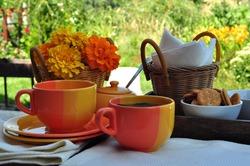 summer tea party in the garden