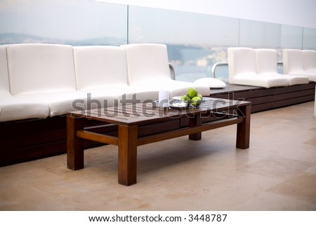 summer terrace - stock photo