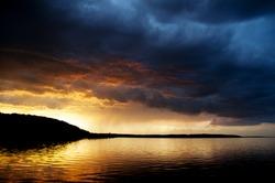 Summer Thunderstorm over Georgian Bay Ontario