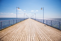 Summer time at the wooden pier