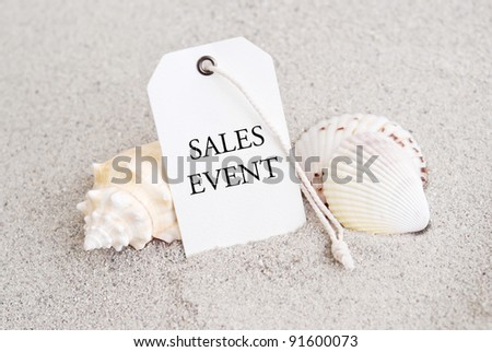 Summer Time Retail Sales Event Tag