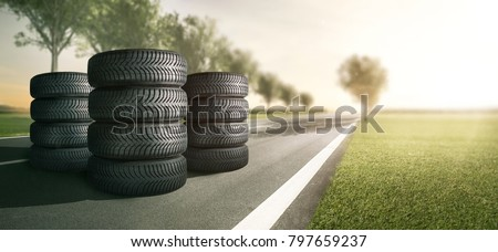 Summer tires on a country road