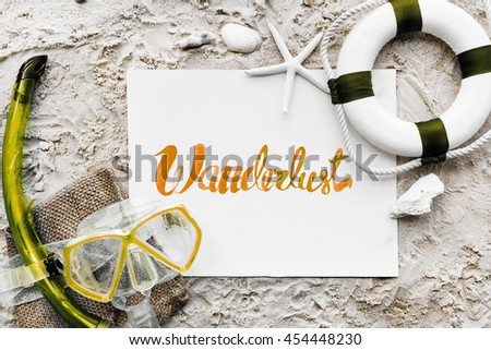 Summer Travel Trip Vacation Wanderlust Beach Concept