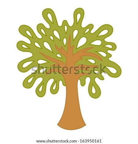 Summer Tree Cartoon Summer Tree Green Cartoon