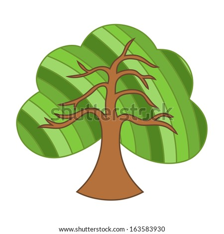 Summer Tree Cartoon Summer Tree Green Cartoon
