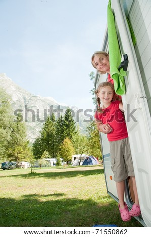 Summer vacation - family camping