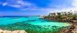 Summer vacation in Cyprus island. Protaras , Fig tree bay
