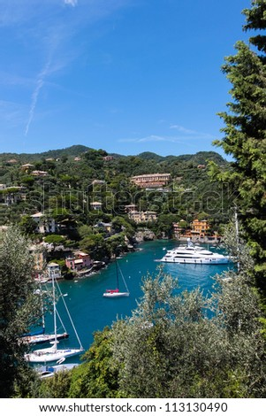 Summer vacation in Portofino village, Italy