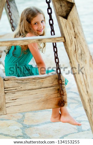Summer vacation, summer joy  -  lovely girl in the beach resort