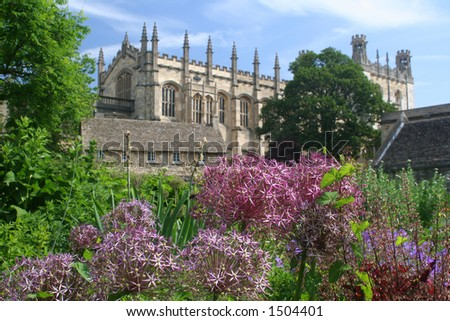 Summer view of Christ Church Cathedral, Oxford University, Oxford, England, UK