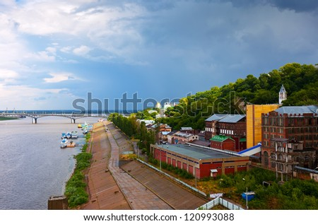 Summer view of historic district of Nizhny Novgorod. Russia