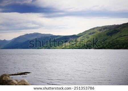 Summer view  of Loch Ness lake, Scotland #251353786