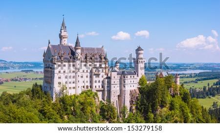 Summer view of Neuschwanstein Castle