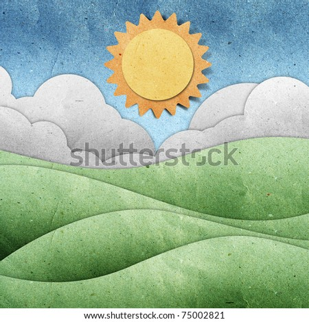 summer  view recycled paper - stock photo