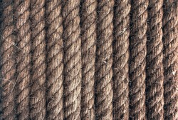 summer vintage old grunge raw hard rope of boat ship ocean navy marine sea style texture textile background wallpaper