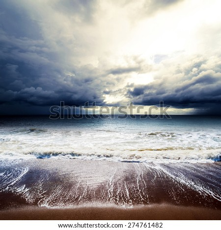 Summer weather - cyclone. Tropical hurricane