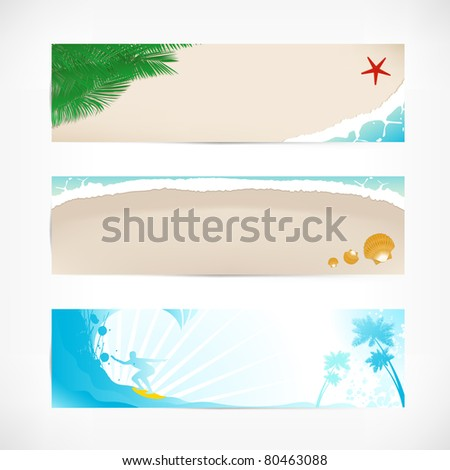 summer web banner beach set JPEG