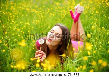 summer woman - stock photo