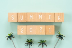 Summer 2021; Wooden blocks with