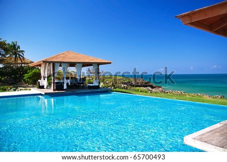 Summerhouses with swimming pool near caribbean sea, Dominican Republic