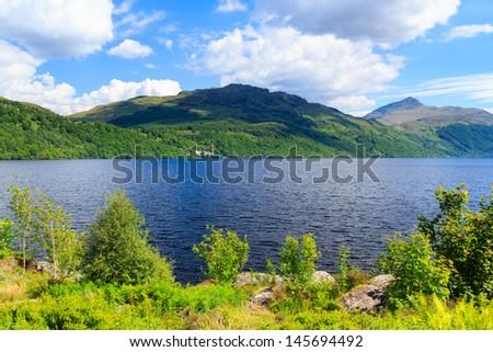 Summers day at Inveruglas on Loch Lomond Scotland UK