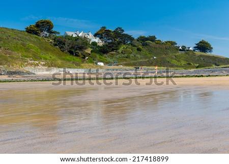 Summers day at Poldhu Cove on the Lizard Peninsula Cornwall England UK Europe