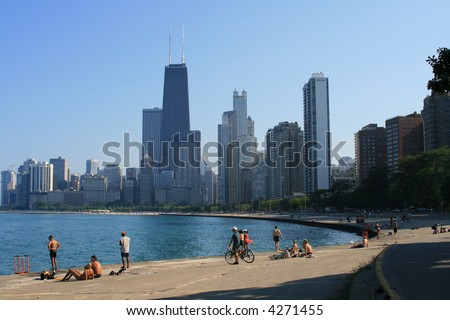 Summertime along Lake Michigan, Chicago