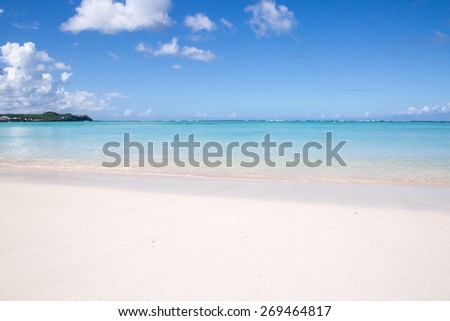 Summertime at the beach beautiful beach and tropical sea