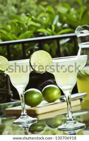 Summertime Margaritas - stock photo