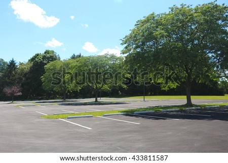 summertime parking lot - Shutterstock ID 433811587
