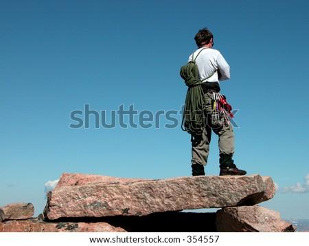 Summit of Granite Peak, Montana.